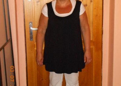 Paní Tylšarová 54 let na začátku programu v červenci 2012 váha 87 Kg